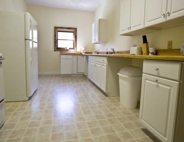 Kitchen from the hallway door